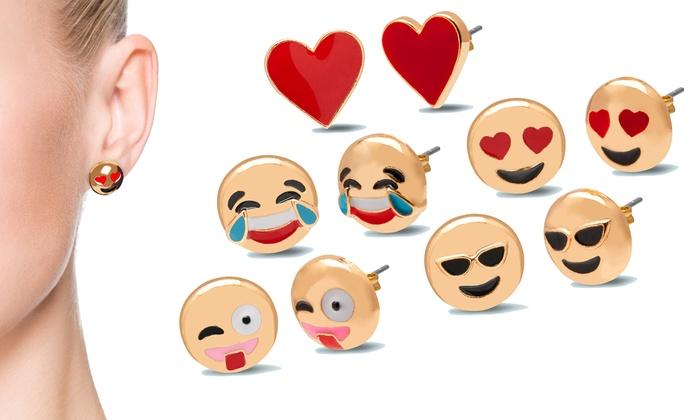 Orecchini Emoji placcati oro