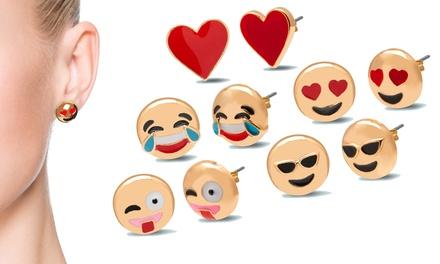 Gold-Plated Emoji Earrings