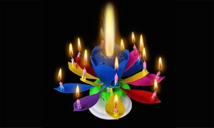 Amazing Blooming Lotus Flower Rotating Birthday Candle at Amazing Blooming Lotus Flower Rotating Birthday Candle, plus 6.0% Cash Back from Ebates.