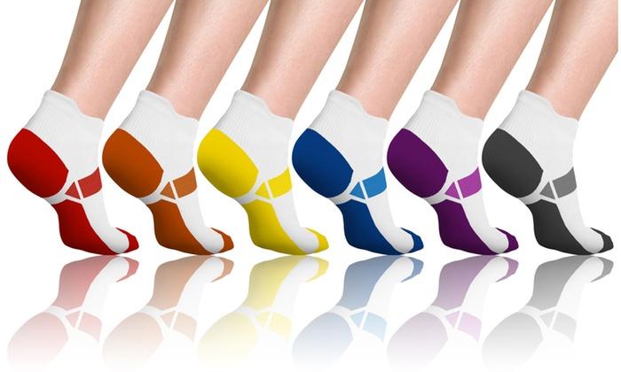 ef50c1d760 Up To 78% Off on Unisex Compression Socks (6-Pk.) | Groupon Goods