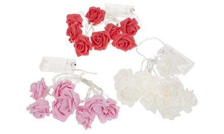 Hasta 4 packs de luces LED con forma de rosa