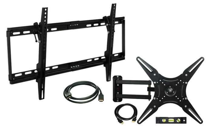 "Mount-It! Tilt Mount for 37""–60"" TVs or Articulating Mount for 23""–60"" TV with Free HDMI Cable"