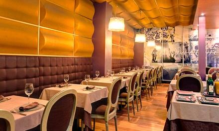 Menú italiano para 2 con degustación de entrante, principal, postre y bebida desde 24,95 € en Anema e Core