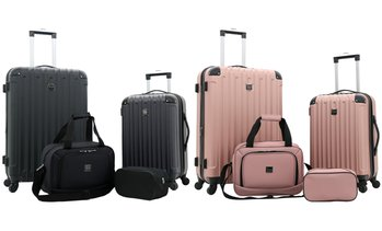 Travelers Club Midtown Hardside Spinner Luggage Set (4-Piece)