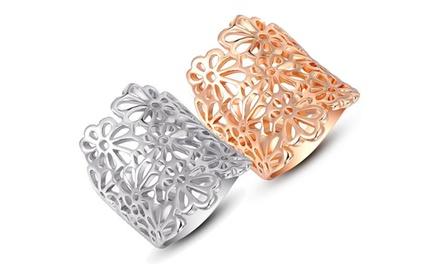1x oder 2x Magic Lace Ring in Silber, Roségold oder in beiden Farben