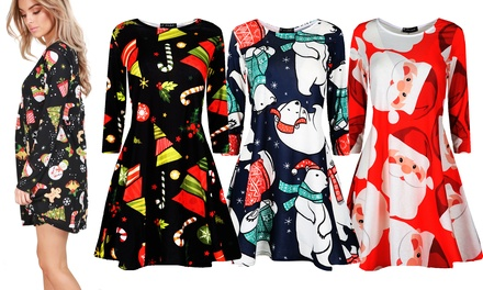 Be Jealous Christmas Swing Dress in Choice of Design