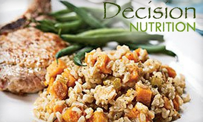 Decision Nutrition - University Gardens: $40 for Two Nutrition-Counseling Sessions at Decision Nutrition ($240 Value)