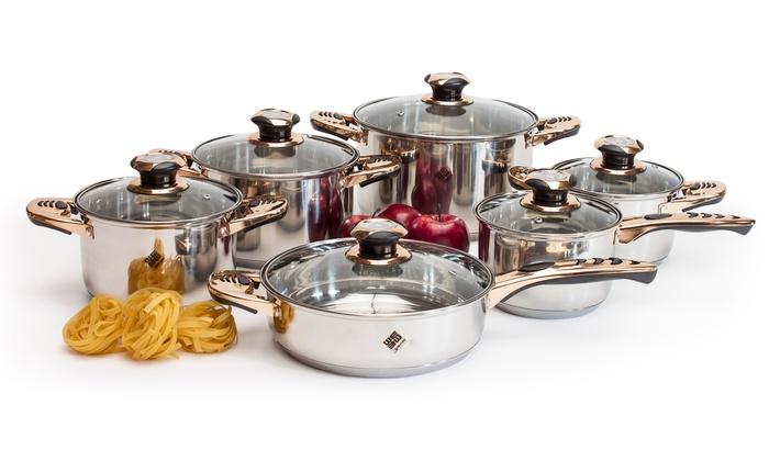 Batterie de cuisine professionnelle 12 pi ces groupon - Cuisine en scene batterie de cuisine ...