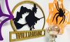 Metal Unlimited: One or Two Personalized Wood Halloween Signs from Metal Unlimited (Up to 50% Off)