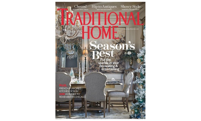 Traditional Home Magazine Groupon Goods