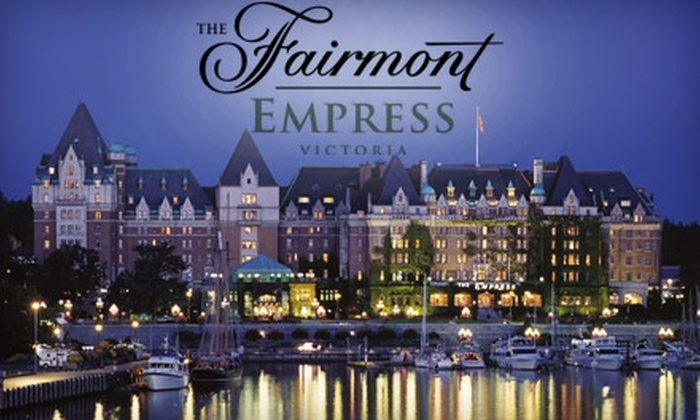 The Fairmont Empress - James Bay: $189 for a One-Night Stay for Two and Spa Service for One at The Fairmont Empress in Victoria (Up to $378 Value)