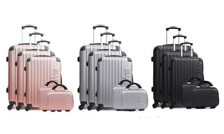 Set di 5 valigie in ABS Bluestar