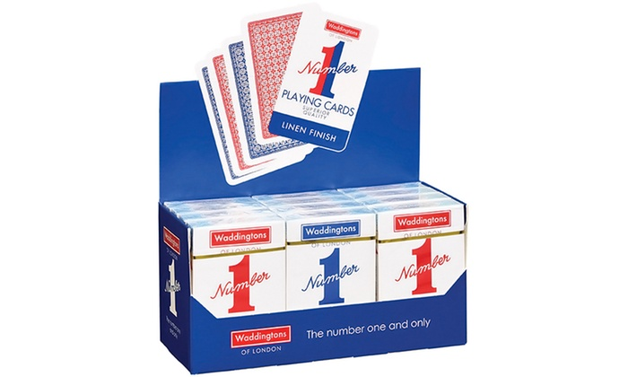 Waddingtons playing cards 12 pack groupon goods for 12 in 1 game table groupon