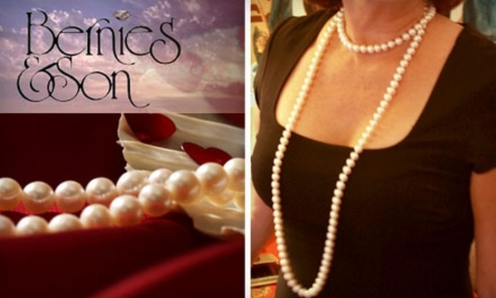 Bernie's & Son - Tampa Bay Area: $299 for 52-Inch Strand of Freshwater Cultured Pearls at Bernie's & Son ($600 Value)