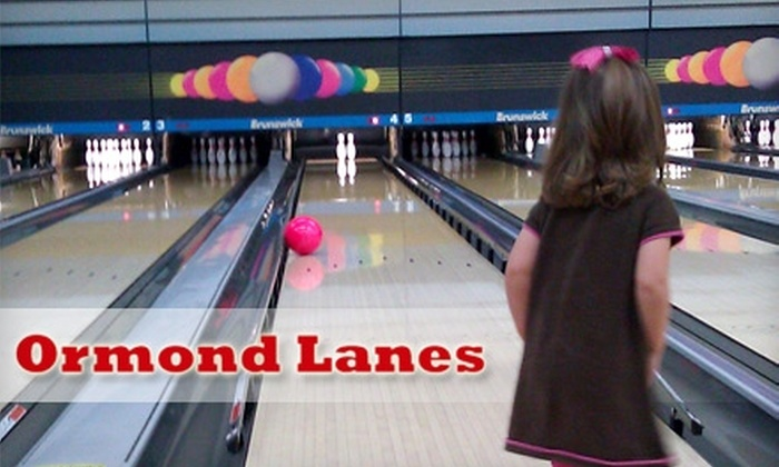 Ormond Lanes - Ormond Heights Ormond: $5 for Two Games, One Shoe Rental, and One Medium Soft Drink at Ormond Lanes Bowling (Up to $12.83 Value)