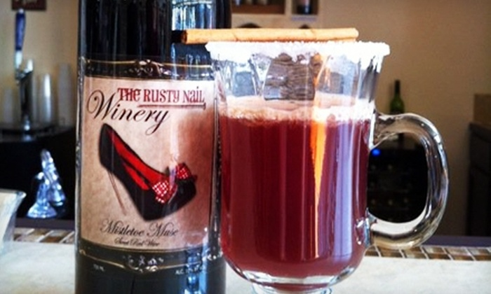 The Rusty Nail Winery & Tasting Room - Sulphur: $14 For Tasting, Appetizer & Merchandise at The Rusty Nail in Sulphur ($27.95 Value)