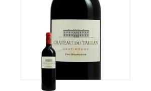 Château du Taillan: Dégustation verticale, gourmandises ,bouteille et cadeau pour 2 à 39,90 € au Château du Taillan