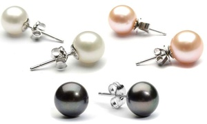 Freshwater Pearl Stud Earrings in 18K White Gold Plating at Freshwater Pearl Stud Earrings in 18K White Gold Plating, plus 9.0% Cash Back from Ebates.