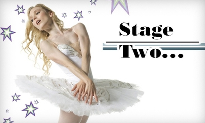 Stage Two - Stockton: $15 for $30 Worth of Dance and Swim Apparel at Stage Two