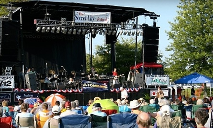 Secret City Festival - Oak Ridge: Two Tickets to See Village People or Ricky Skaggs at The Secret City Festival in Oak Ridge. Two Dates Available.