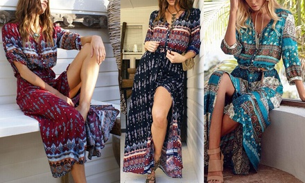 $25 for One or $39 for Two Boho Printed Maxi Dresses