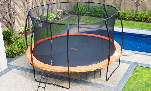For A Kahuna Outdoor Trampoline With Optional Basketball