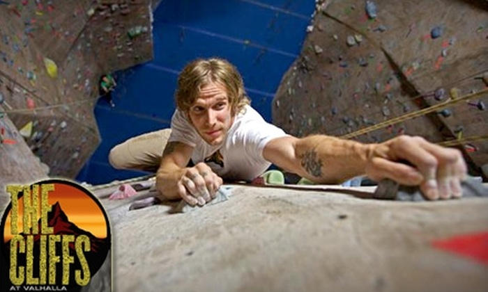 The Cliffs at Valhalla - Valhalla: $30 for Intro to Climbing Class and Two Weeks of Unlimited Climbing at the Cliffs at Valhalla ($83 value)