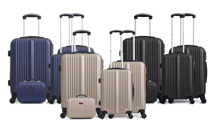 c4c883eea Juego 3 maletas y neceser Hero | Groupon