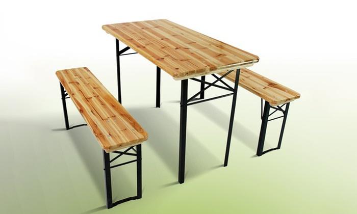 Tavolo picnic con panca groupon goods - Tavolo pic nic decathlon ...