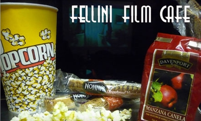 Fellini Film Cafe - Kern Place: $5 for $10 Worth of Cappuccino, Fare, and Movies at Fellini Film Cafe