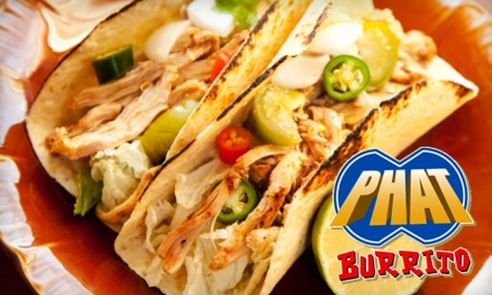 Phat Burrito - Dilworth: $6 for $12 Worth of Southwestern-Style Fare and Drinks at Phat Burrito