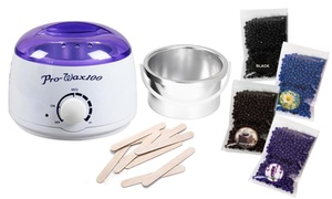 Hair-Removal Waxing Kit with Applicators and 4 Scents of Wax