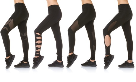 BSP Women's High-Waisted Active Leggings. Plus Sizes Available.