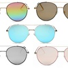 MMK by Dasein Collection Round-Lens Aviator Sunglasses