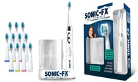 Sonic-FX Toothbrush with UV Sanitizer and 12 Brush Heads (Multi Colors)