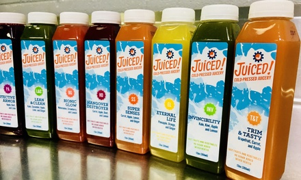 Three-, Five-, or Seven-Day Juice Cleanse from Juiced! Cold-Pressed Juicery (Up to 24% Off)