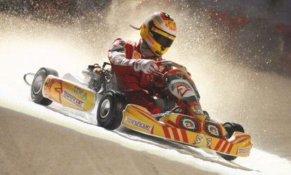image for Ice Karting for Up to Six at QUEENS Skate • Dine • Bowl (Up to 34% Off)