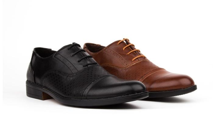 Royal Men's Cap Toe Slip-On Dress Shoes