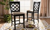 Modern and Contemporary Wood Counter Stool (2-Pack)