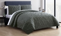 Caroline or Kaleidoscope Embossed Lightweight Quilt Set (2-, or 3-Piece)