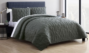 Caroline or Kaleidoscope Embossed Quilt Set (2-, or 3-Piece)