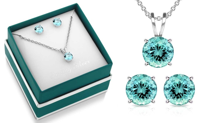 aqua clipart jared sterling aquamarine looking diamond sweet silver necklaces accents marine necklace