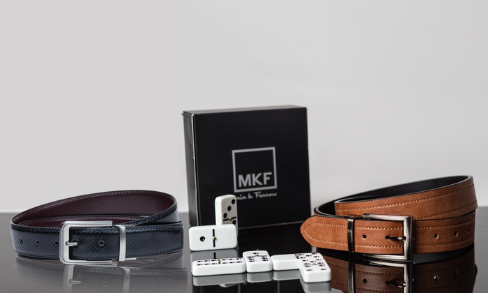 4ad359933690c MKF Collection by Mia K. Farrow Reversible Men's Genuine Leather Belt