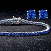 8.00 CTTW Sapphire Bracelet and Earrings Set by Valencia Gems (3-Pc.)