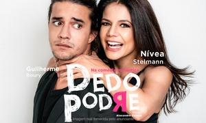 """Jader Produções Artísticas: """"Dedo Podre"""", com Nívea Stelmann e Guilherme Boury – Teatro Municipal de Ribeirão Preto"""