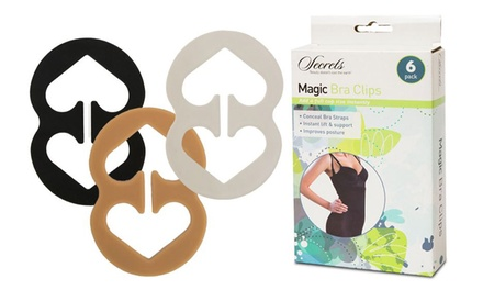 6 or 12 Magic Bra Clips