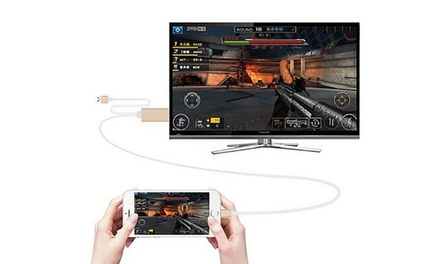 Adaptador HDMI para iPhones con conector Lightening