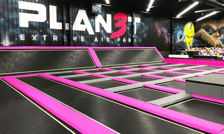 90-Minute Jump Pass for One, Two, Four, or Six People at Planet 3 Extreme Air Park - Duluth (Up to 49% Off)