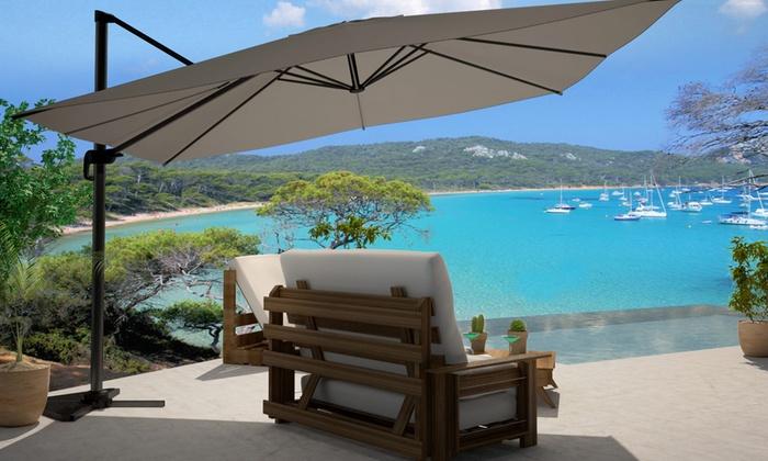 parasol d port mod le au choix groupon shopping. Black Bedroom Furniture Sets. Home Design Ideas