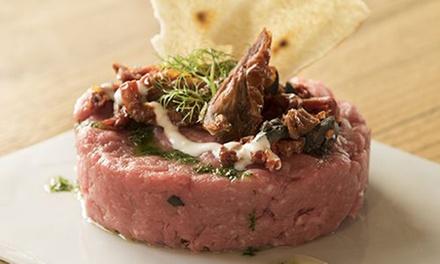 Menu con degustazione tartare a km 0, dolce e calice di vino per 2 o 4 persone al ristorante Al Toc (sconto fino a 63%)
